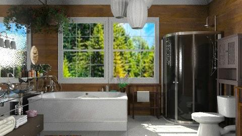 Mirror Wall - Modern - Bathroom  - by Bibiche