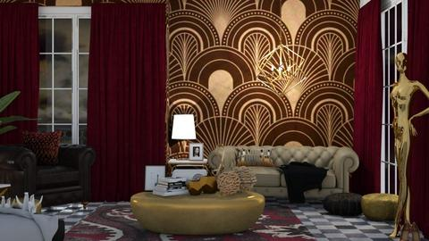 Art Deco Living - Living room  - by KittyKat28