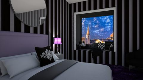 Black and Purple Bedroom - Bedroom  - by Khayla Simpson