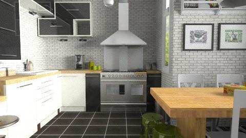 Brick walls - Modern - Kitchen  - by Tuija