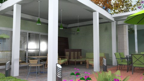 Covered patio - Modern - Garden  - by Bibiche