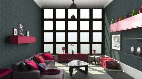 Gris&Rose - Minimal - Living room  - by camilla_saurus
