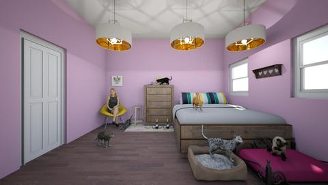 Cat ladys bedroom - Country - Bedroom  - by Chicken202