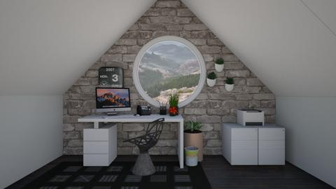 white and rustic study - Office  - by Max30