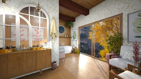 Cherry Blossom Bathroom - Bathroom  - by Celia Schrag