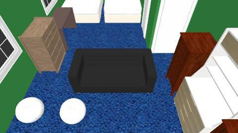 MAN CAVE - Retro - Bedroom  - by fdanna9