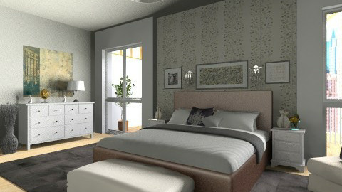 city sleeping comfort  - Modern - Bedroom  - by vesperart
