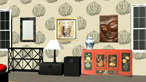 ChineseBedroom4 - Eclectic - Bedroom  - by camilla_saurus