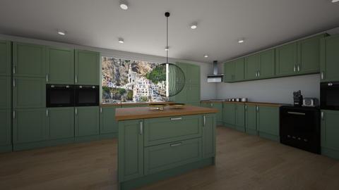 Green Kitchen  - Kitchen  - by rona123