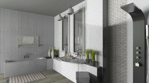bains de reve - Rustic - Bathroom  - by calu13
