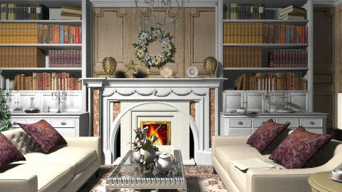 Fireplace - Vintage - Living room  - by PomBom