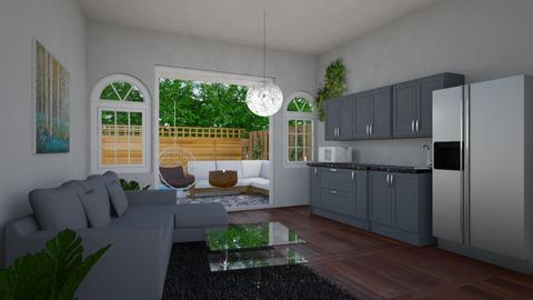 Modern Living Room - Garden - by hluong