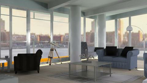 Richard Meier Version 2 - Modern - Living room - by ellis1711
