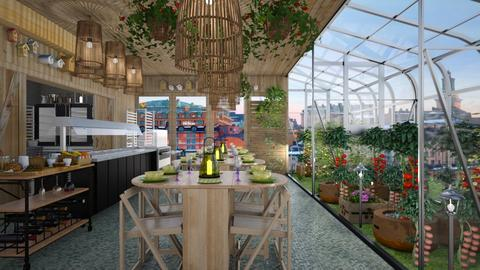 A small green restaurant  - Modern - Dining room  - by Ida Dzanovic