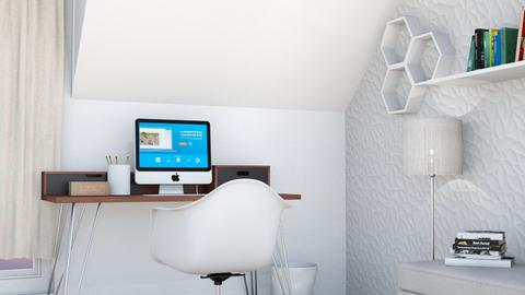 white home office - Office - by Kristely