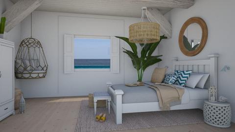 Summer Beach Room - Classic - Bedroom  - by elia07