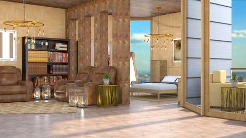 Wood Lover - Rustic - Living room  - by millerfam