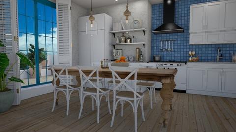 Greek kitchen and dining - Kitchen  - by Tuija