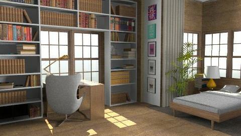 bedroom - Rustic - Bedroom  - by whateffer