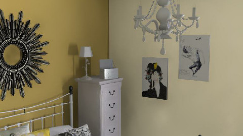 glamour zyrandol i lustro - Glamour - Bedroom - by natienka