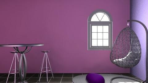 PurpleElfieBedroom - Glamour - Bedroom - by Pavitra Rajaveloo