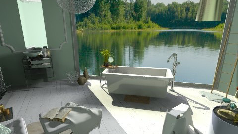 Mint and Gold Bath - Eclectic - Bathroom  - by idesine