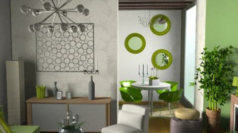 green retro - Retro - Living room  - by dominicjames