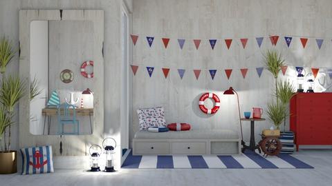 nautical bedroom - Rustic - Bedroom  - by deleted_1617388031_MillieTZ