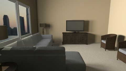 condo living room - Living room  - by DaMarrie Grisby