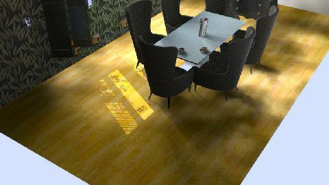 black dining room - Dining Room  - by ceejmarzan