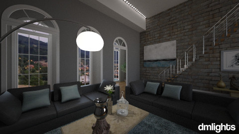 TealLivingSpace - Living room - by DMLights-user-1063855