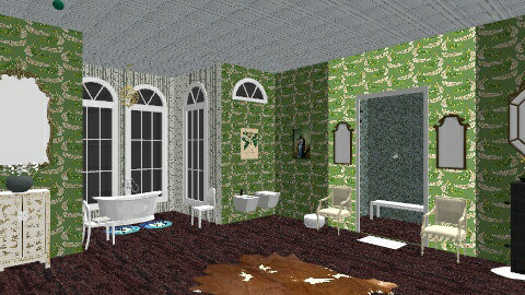 Peacock Bathroom - Eclectic - Bathroom  - by pinkponytails19