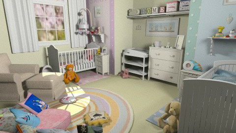 Boy and Girl Nursery - Kids room  - by FranChi
