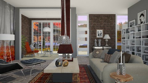 Autumn_ Grey Mist - Modern - Living room - by janip