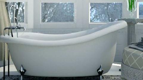 mint bathroom - by XValkhan