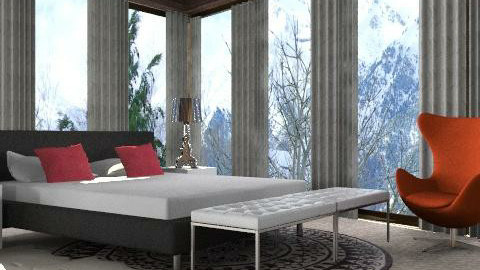 Alpine bedroom - Glamour - Bedroom  - by mydeco_Jo