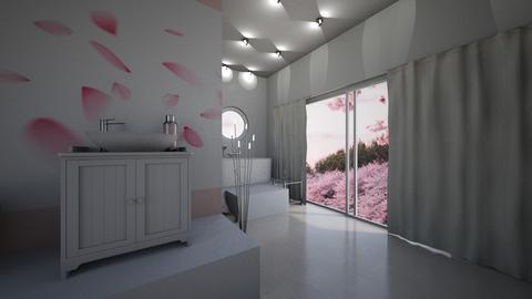 Cherry Blossom Bathroom - Bathroom  - by Daisydesigner