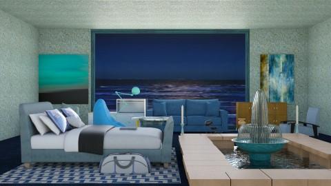 Deep Blue Ocean View  - Modern - Bedroom  - by InteriorDesigner111