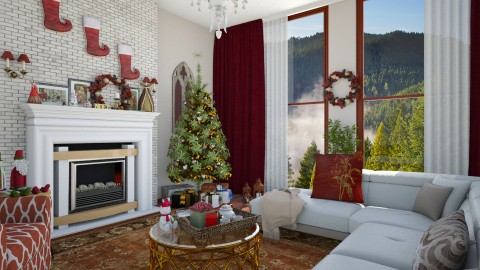 Xmas is Coming - Glamour - Living room - by DeborahArmelin