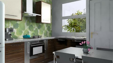 Small Kitchen (Real) - Modern - Kitchen  - by 3rdfloor