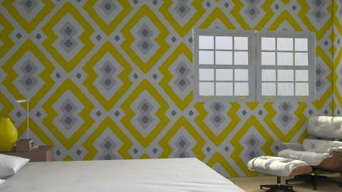 yellow! - Retro - Bedroom  - by Ramel