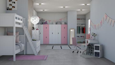 WHITE AND PINK  - Kids room  - by sillvie