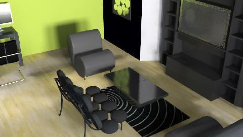 Retro Tv Room - Retro - Living room  - by animal12562