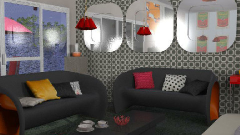 retro living - Retro - Living room  - by nadege