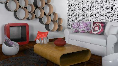 Retro eco room - Retro - Living room  - by Caroline Lily