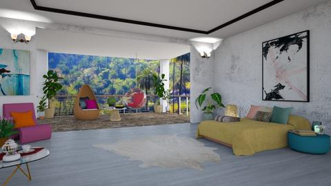 Balcony Bedroom - Modern - Bedroom - by Art_Decoration