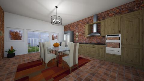 Autumn Pattern Kitchen - Kitchen  - by XenaChico