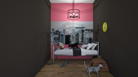 teen girl tiny house room - Bedroom  - by kballard