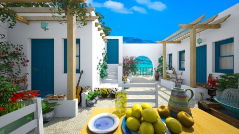 Design 82 Skopelos Courtyard - Garden  - by Daisy320