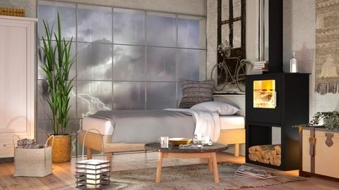 Stormy day Bedroom - Eclectic - Bedroom  - by Sally Simpson